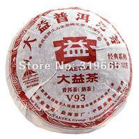 "Wholesale premium Da Yi ""Si Gong"" V93003 Pu'erh ripe Tea cake 100g freeshipping"