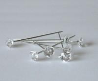 200 Diamante pins. Oasis, Wedding, Buttonholes, Bouquet 1.5 Inch