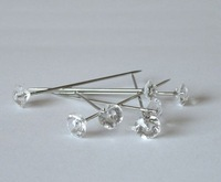 200 Diamante pins. Oasis, Wedding, Buttonholes, Bouquet 1.5 Inch