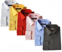 [FOB] Wholesale Men Cheap Cotton Formal Long Sleeve Solid Color Dress Shirt 6 Colors (SU-62F)