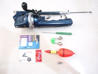 Free shipping 1 set  Fishing rod 131 cm Folded rod with a reel in it 7 kinds fishing tools gifts for you so cheap for every