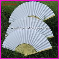 50* White ! Chinese paper fan, wedding fan, hand fan