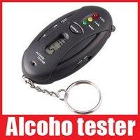 Alcohol Analyzer Breath Tester Breathalyzer Keychain Digital LCD Single-Screen, Free shipping+Drop shipping