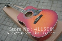 Wholesales Hummingbird cherry sunburst acoustic guitar with Fishman presys blend Pickups acoustic electric guitar