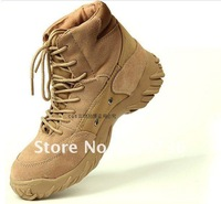 Freeshipping American Oak 6''Military Tactical Combat Army Black \sand Color Boots male a commando war boots for shoes