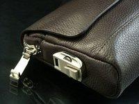 men business handbag, genuine leather men briefcase,Wholesale&Retail+Free Shipping colour:black/coffee