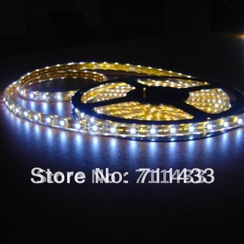 Free Shipping ! 5M/lot SMD 3528 cool white LED STRIPS flexible tape lights 5m 300leds waterproof multicolor car made in Shenzhen
