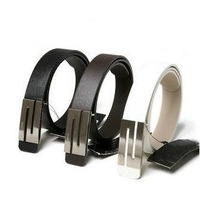 Fedex Free Shipping Wholesale Mens Fashion S Buckle PU Leather Belt / 3 Color Classic Waistband