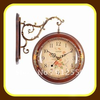 Antique Wooden Double Wall Clock