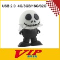 Cute Black Skeleton USB 2.0 Flash Memory (4G/8G/16G/32G),Free Shipping