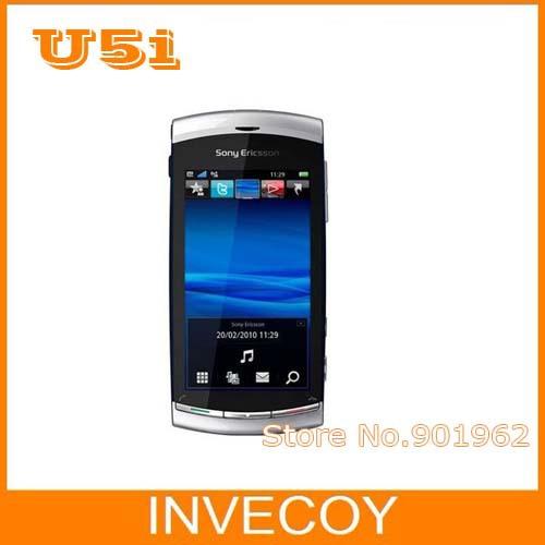 U5i original Sony Ericsson Vivaz U5i unlocked mobile phone 3G WIFI GPS 8MP camera 3.2 inch touch screen freeship