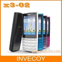 X3-02 original brand nokia X3-02 cell phone,3G,Quad-Band,WiFi,5MP camera with freeship