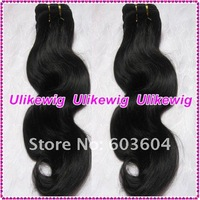 "10"" #1b Body Wave Brazilian Virgin Human Hair Extension"
