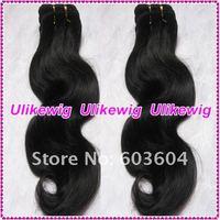"10"" #1b Body Wave Brazilian Virgin Human Hair Extension"
