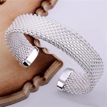 Fashion Jewelry 925 Silver  Brass Web Bangle B029