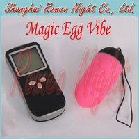 Wholesale 10 Pieces/Lot, Magic Egg Vibe & LCD Remote, 10 Functons Vibration Bullets, Remote Control Vibrators, Adult Sex Toys