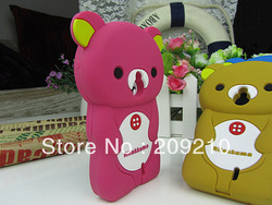 2012 Hot Selling Cute Soft Silicone Skin Case Cover 3D Rilak kuma Bear For Sony Ericsson Xperia NEO MT15i MT11i,1pcs min order(China (Mainland))
