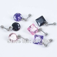 2013 NEW Fashion Earring HOOK,Zircon Ear Bone earring.Allergy free 316 L stainless steel, . Free Shipping.