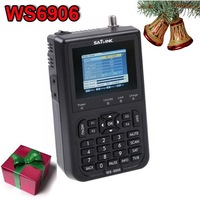 Digital satellite finder meter Satlink WS6906 3.5inch LCD support FTA AV DVB black color
