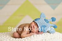 Retail Newborn Baby Boy Sky blue Giraffe Hat,Baby Boy Giraffe Beanie,Newborn Baby Photography Prop Hat 0-12 Months