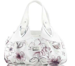 New Womens Ink Painting Flower handbag Evening Shoulder Bag Free Shipping E630(China (Mainland))
