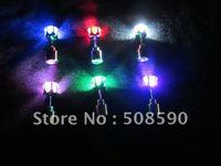 Free shipping100pcs/lot (50pairs) 20*7mm 6color led stud earring led earring flash stud earring for Christmas