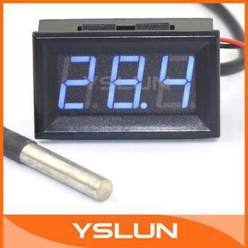 """Мини - 55 - 125 град. цифровой термометр 0.56 """" синий из светодиодов температурный ..."""