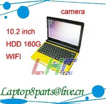 Hot sell Mini Notebook 10.2 inch laptop Atom D425 Processor 1.8G Memory 1GB HDD 160G netbook wifi camera