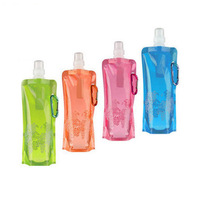 Free Shipping! Portable folding sports water bottle/foldable water bottle 480ml(16oz)(6 colors) 10pcs/lot