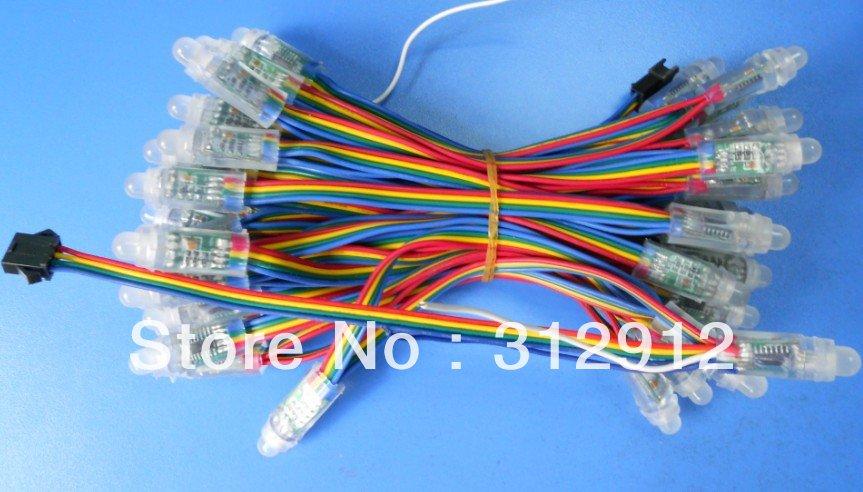 led module,WS2801 pixel node, 50node a string,IP66,DC5V input;led pixel light(China (Mainland))