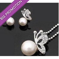 Merry Christmas! Fashion pearl jewelry set, Fashion jewellery settings, Pendant&amp;earrings(twinset),Free necklace Vintage Jewelry