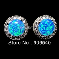 MOQ $15.0 Min.order 1PC  Wholesale fashion blue opal earrings DR0300764E