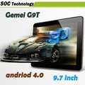 DHL free 9.7 inch Gemei G9T Dual Core OS 4.0 AML8726-MX 1.5GHz 1GB/16GB IPS capacitive screen 1024x768 pixel Tablet PC