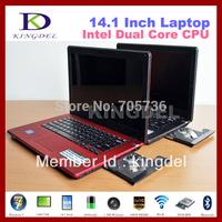 """14"""" Notebook, Laptop Computer, Intel N2600 Dual Core 1.6Ghz Quad Thread, 2GB RAM+320GB HDD, DVD-RW, Webcam, HDMI, Bluetooth"""