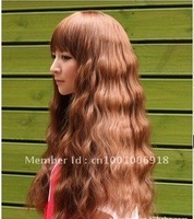 English style Sexy Stylish Women's Full Long Wavy wig / wigs Curly Pretty Hair HS-H002
