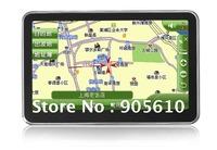 Free shipping 4.3inch super slim design fashion GPS car navigator 4G+bluetooh+AV/IN+Fm transimitter window CE 6.0