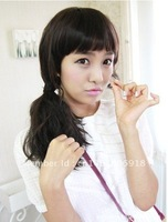 Koral Sweet Stylish girl's  mid-longWavy wig / wigs Curly Pretty Hair, graceful hair, cosplay wig HS-H007