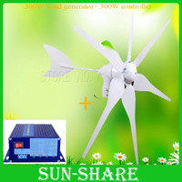 Free Shipping ! HOT SALES 6blades windmill generator generator +solar wind generator charge controller DC 12V / 24V FOR HOME/LED