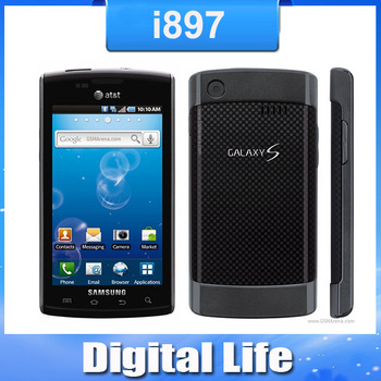 """i897 Original Samsung i897 Captivate Cell Phone GPS WIFI 5MP Unlocked Android 4.0"""" Touch Screen Smartphone Refurbished"""