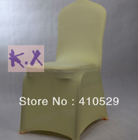 Dark Ivory Spandex chair cover\Wedding ycra chair cover\Free shipping /top quality