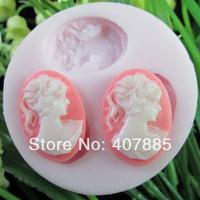 Girl Shape Silicone Cake Mold Decorating Gum Paste Fondant Clay Soap Mold MD010