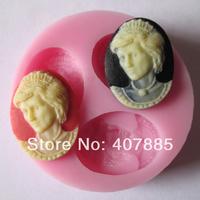 silicone cake mold cake decoration mold chocalate mold  silicone mold lady woman shape