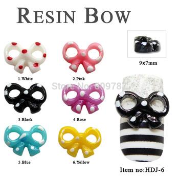 Resin Bow Nail Art Decoration Colors Bowknot 1000pcs/bag wholesales