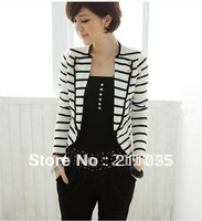 Hot Sale highquality fashion navy style casual all-match stripe blazer outerwear,R93