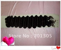 Stock!!! 18inch color1b dep wave  AAA grade vrigin brazilian human hair weft