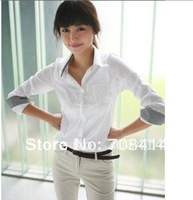 Korean style women's Office Lady must have fashion simple all match shirt blouses/free shipping Promotion 3008