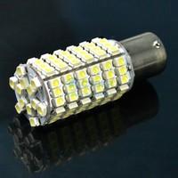 2 X Cute Car BA15S SMD3528 120 LED Light Lamp Bulb Flat Foot White Light DC 12V Retail & Wholesale
