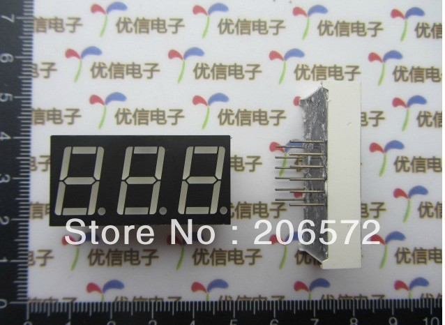 37.5*19*7.8MM red light Common Anode two Digital tube / Nixie tube 0.5/0.56 inches(China (Mainland))