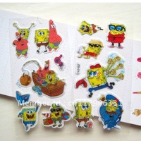 Spongebob Chidren Cartoon Stickers School classroom things for Kids for Mobile Gift