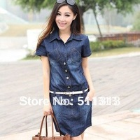 FREE SHIPPING slim loose large size thin denim dresses